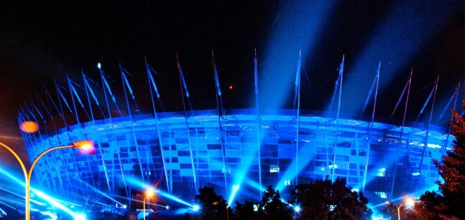 BIG LIGHT SHOW na stadionie